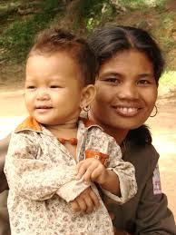 indianische mutter mit kind