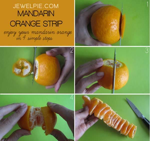 mandarinen oder orangen streifen