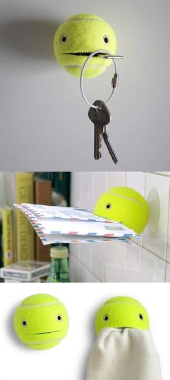 Tennisball als Aufbewahrungs- Halter