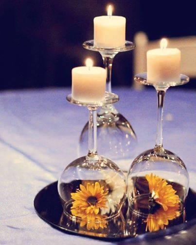 Weinglas Kerzenständer