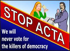 acta wir waehlen niemals fuer die killer der demokratie