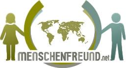 Logo von menschenfreund.net frau und mann halten eine weltkugel fest