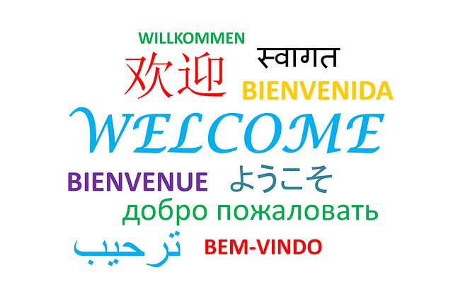 wilkommen in verschiednen sprachen und schriftzügen. sprachen der welt bei menschenfreund.net