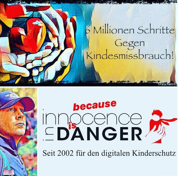 6 Millionen Schritte Gegen Kindesmissbrauch Thomas Paschen Menschenfreund.net